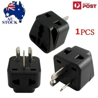 AU5.50 • Buy 1X  UK EU US To AU Australia Converter Travel AC Power Adaptor Plug Black Univer