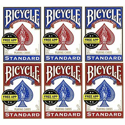 £6.49 • Buy Bicycle Standard Playing Cards Red & Blue Decks 1, 2, 4 Or 6 Packs Made In USA