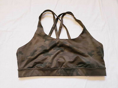 $ CDN139 • Buy Lululemon Energy Bra Size 10 Camo Green Savasana Vguc
