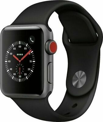 $ CDN286.90 • Buy Apple Watch Series 3 42mm GPS + Cellular 4G LTE - Space Gray - Black Sport Band