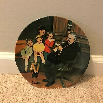 $ CDN22.89 • Buy Edwin M Knowles  The Family Doctor  Norman Rockwell 1992 Collectors Plate