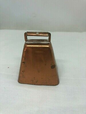 Vintage Cow Bell Farm Style Ring Ding Dinger Copper-tone 3 1/2  Tall • 9.99$