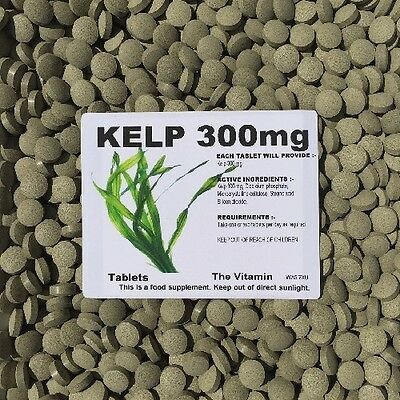 View Details The Vitamin Sea Kelp 300mg 60 Tablets - Bagged • 3.95£