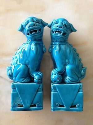 Decorative Vintage Chinese Turquoise Foo Dogs.  • 169£