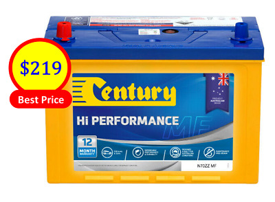 AU219 • Buy CENTURY BATTERY N70ZZ MF 4×4&SUVS  12Volts