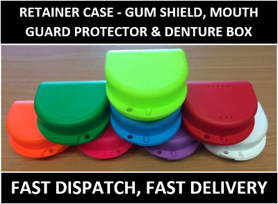 £1.99 • Buy Retainer Case - Gum Shield, Mouth Guard Protector, Denture Box - Many Colours