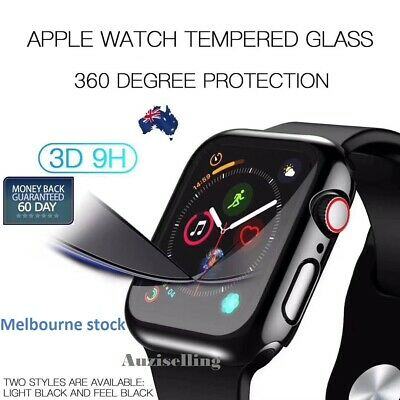 AU11.98 • Buy Apple Watch Full Body Case & Built-in Glass Screen Protector For Series 4 3 2 1