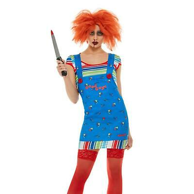 £23.99 • Buy Womens Chucky Costume Childs Play Doll Ladies Halloween Fancy Dress Outfit