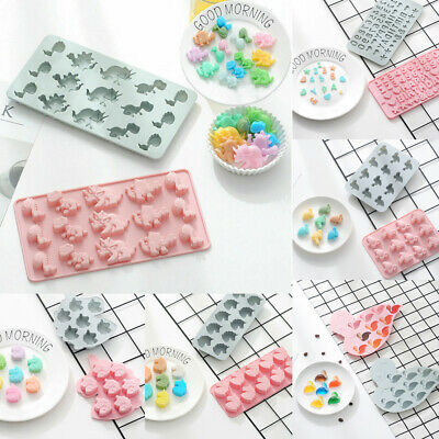 Cake Jelly Cookies Soap Mold Chocolate Baking Mould Tray Wax Ice Cube Decorating • 2.99£