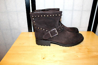 $ CDN47.62 • Buy Kelsi Dagger Max  Very Nice Brown Studded Leather Ankle Boots W Sz 8.5 Mint