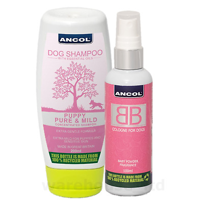 Ancol BB Dog Puppy Cologne & Shampoo New Baby Powder For All Coats • 11.99£