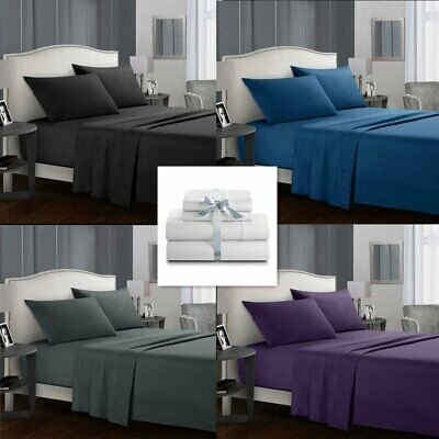 AU36.99 • Buy Ultra SOFT 1000TC Bed Linen Cotton Sheets Set For Single/Double/Queen/King Size