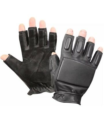 $15.99 • Buy Tactical Military Leather Men Gloves & Police Security Fingerless Rappelling M L