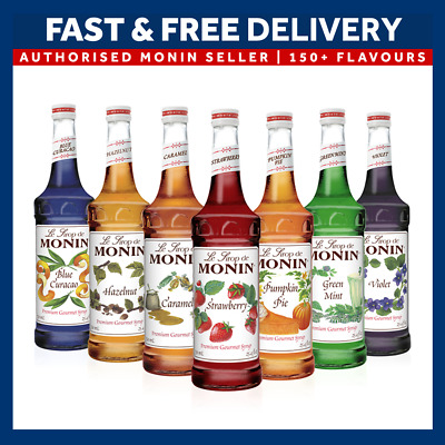 Monin Coffee And Cocktail Flavouring Syrups - 1L Big Bottle USED BY COSTA COFFEE • 11.50£