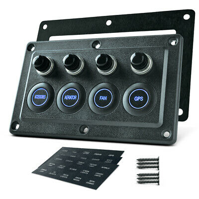 $48.75 • Buy Waterproof 4 Gang LED Touch Screen Switch Control Panel Car Boat Truck Marine