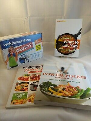 $13.99 • Buy Weight Watchers Lot What To Eat Now Power Food Cookbook Punch DVD Instant Pot