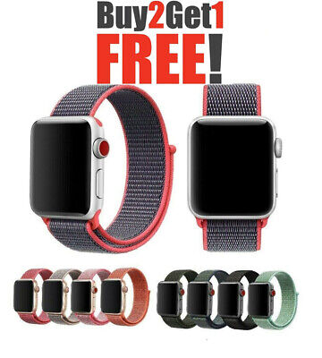 $5.29 • Buy Woven Nylon Band For Apple Watch Sport Loop IWatch Series 4/3/2/1 38/42/40/44mm