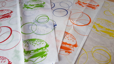 £3.29 • Buy Burger Wraps, Greaseproof Paper Sheets Deli, Food Wraps Free P&P