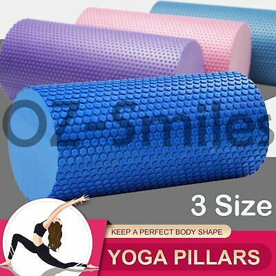 AU28.85 • Buy EVA Yoga Foam Roller Physio Back Training Pilates GYM Home Back Exercise Massage