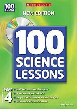 100 Science Lessons For Year 4 With CD-ROM Hybrid Kendra McMahon • 7.31£