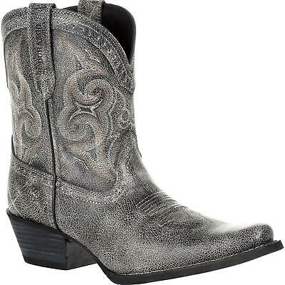 $109.95 • Buy Durango Ladies Crush Pewter Shortie Western Boots DRD0357