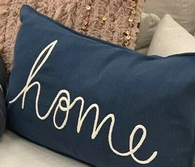 $39.50 • Buy Pottery Barn HOME Sentiment Lumbar PILLOW COVER~Embroidered~NWT~16x26  Authentic