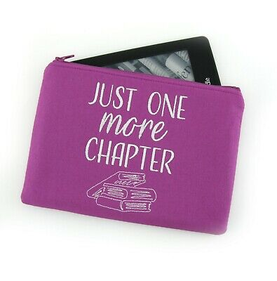 AU28 • Buy Just One More Chapter Embroidered Kindle Padded E-Reader Paperwhite Amazon Oasis