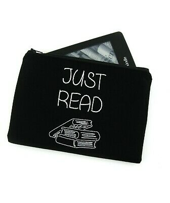 AU28 • Buy Just Read Embroidered Kindle Padded E-Reader Sleeve Paperwhite Amazon Oasis
