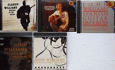 $ CDN12.99 • Buy Lot Of 5 CDs - JOHN WILLIAMS - Greatest Hits, Spanish Guitar, Echoes, Romance -