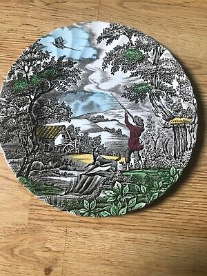 £11.95 • Buy Decrotive China Tea Plate 'The Hunter' By Myott Hand Engraved Made In England