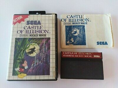AU29.71 • Buy Castle Of Illusion Starring Mickey Mouse - Sega Master System Game Cib Complete