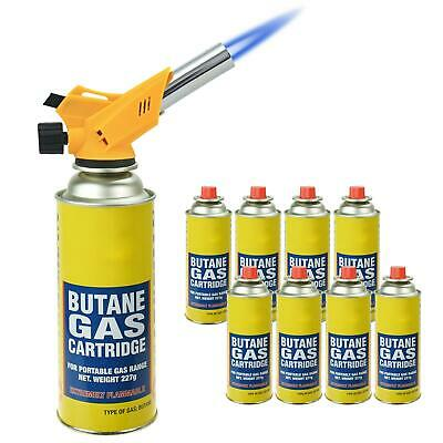 New Multi-Purpose Blow Torch Butane Gas Kit Auto Ignition Camping Welding BBQ • 15.99£