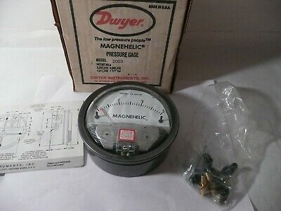 $79.96 • Buy New Genuine Dwyer Magnehelic Pressure Gauge 0 To 3 Inches H20 Model 2003