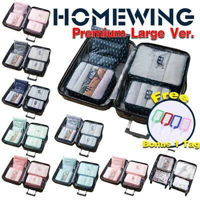 AU9.95 • Buy 6Pcs Packing Cubes Travel Pouch Luggage Organiser Clothes Suitcase Storage Bags
