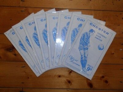£2.25 • Buy 1968-69 CHESTER FC HOME FOOTBALL PROGRAMMES - Your Choice - FREE Postage