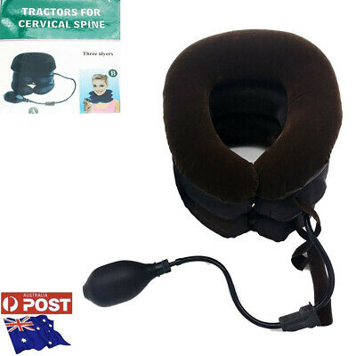 AU18.75 • Buy Inflatable Neck Support Pillow Brace Pain Relief Cervical Tractor Soft Travel-AU