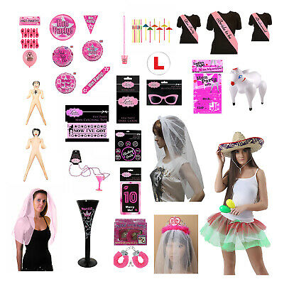 HEN PARTY BAG FAVOURS Bride To Be Ladies Girl Night Hen Do Goodies Filler LOT UK • 2.23£