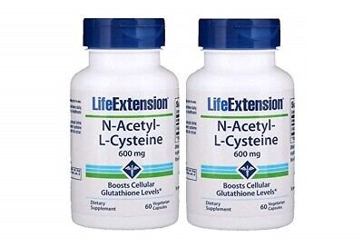 AU76.51 • Buy Life Extension N-Acetyl Cysteine NAC 600mg 60 Caps X 2