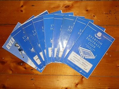 1960-1963 EVERTON FC HOME FOOTBALL PROGRAMMES - Your Choice - FREE Postage • 2.25£