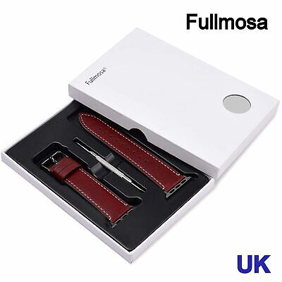 AU32.46 • Buy Fullmosa 38mm Apple Watch LEATHER Band For IWatch Series 3 2 1 ,Nike+, Hermes&Ed