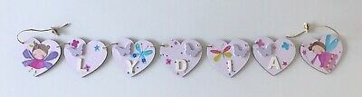 Personalised Wooden Fairy/Butterfly Name Bunting • 1.65£