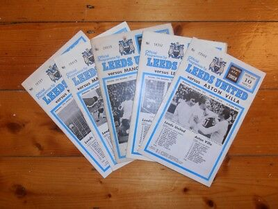 1972-73 LEEDS UNITED HOME FOOTBALL PROGRAMMES - Your Choice - FREE Postage • 2.25£