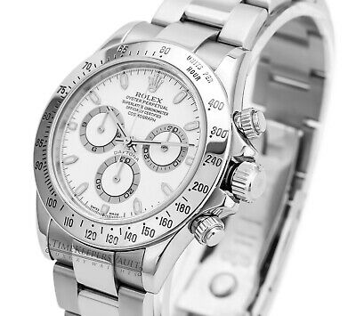 $ CDN25481.54 • Buy Rolex Mens Cosmograph Daytona SS 116520  White Dial 40mm-Mint Condition