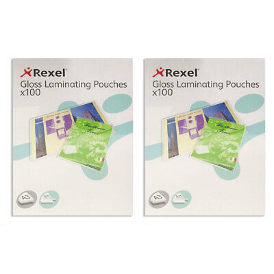 200pc Rexel A3 Laminating Pouches/Sheets 150 Micron F/Document/Photos Protection • 55.35£