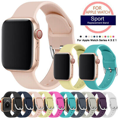 $ CDN6.42 • Buy 38/42mm 40/44mm Silicone Sports Apple Watch Band Strap For IWatch Series 4 3 2 1