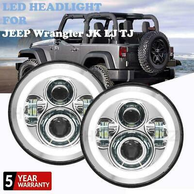 AU76.92 • Buy 2x 7  Inch Round 150W LED Headlight Hi/Lo Beam DRL Fit For JEEP Wrangler JK