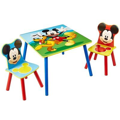 £73.10 • Buy Disney Mickey Mouse Kids Table And 2 Chair Set Children Play Room Furniture