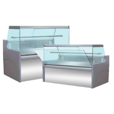 Straight Glass Serve Over 8ft Counter Display Chiller Fridge Kebab Cafe 2.5m   • 2,280£