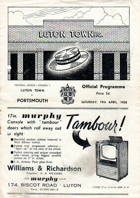 1956-1960 LUTON TOWN HOME FOOTBALL PROGRAMMES - Your Choice - FREE Postage • 2.99£