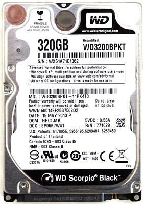 AU246.96 • Buy Wd Scorpio Black 320gb 2.5'' Hdd, 15may2013 P, Dcm: Hhctjab
